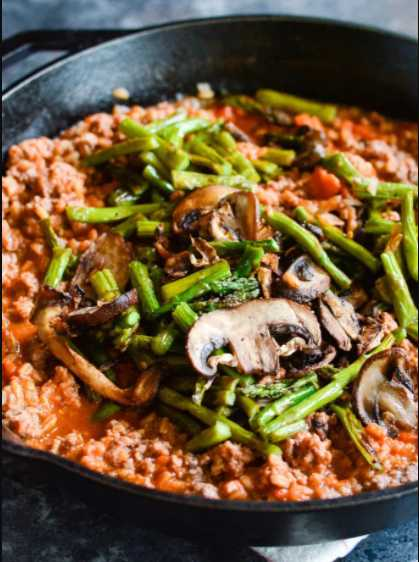 Ground beef mushroom asparagus recipe