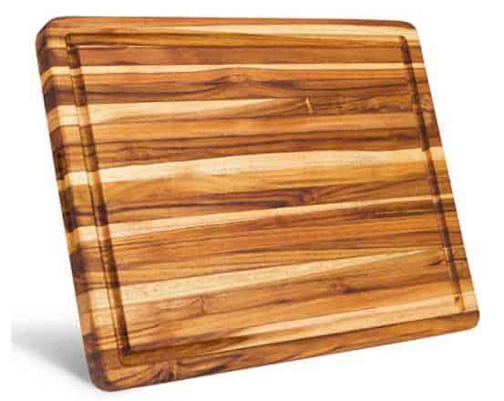 Large Reversible Teak Wood Cutting Board