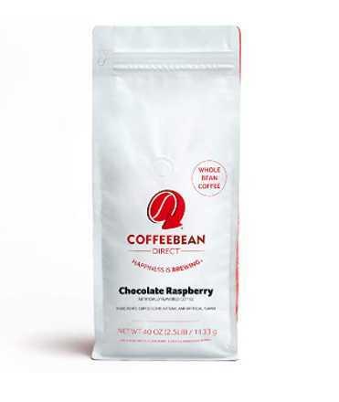Coffee Bean Direct Chocolate Raspberry Flavored, 2.5-Pound Bag