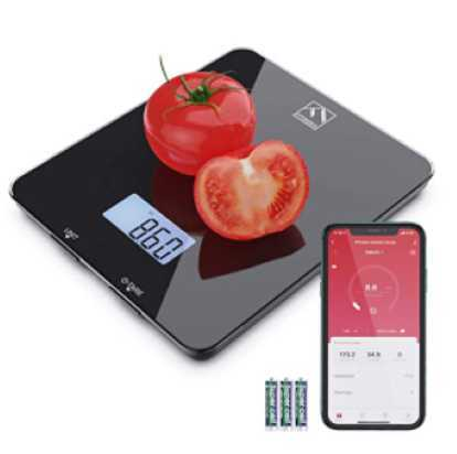 FITINDEX Bluetooth Digital Kitchen Scale with Nutritional Calculator and Timer, Multifunction Coffee Scale with Smartphone APP