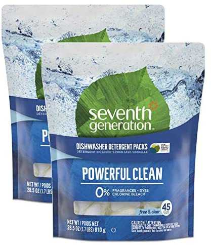 Seventh Generation Fragrance-Free, 45 Count, 2 Pack
