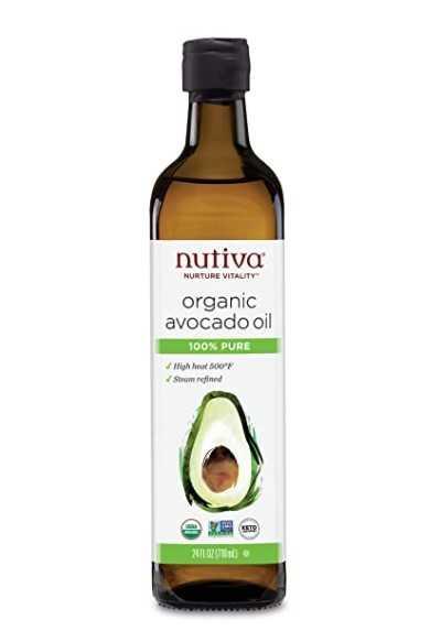 100% Pure Nutiva Organic Steam-Refined Avocado Oil