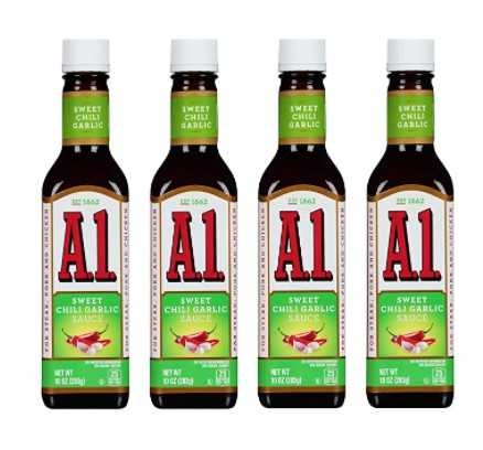 A1 Sweet Chili Garlic Sauce 10 Oz (Pack of 4)