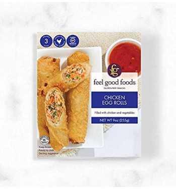 Feel Good Foods Chicken Egg Rolls, 9-Ounce pack