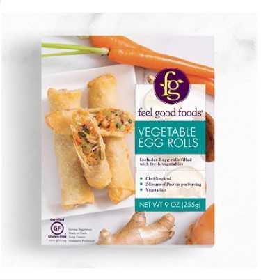 Feel Good Foods Vegetable Egg Rolls, 9-Oz