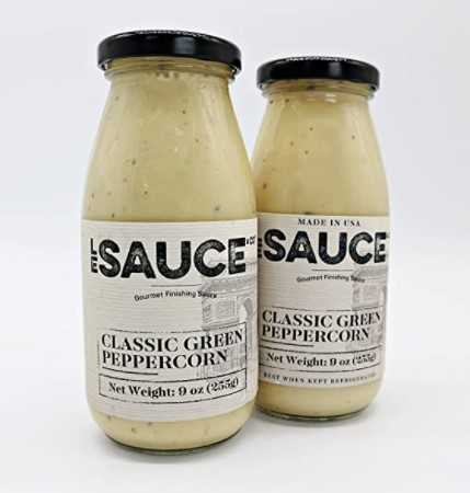 Le Sauce Gourmet Classic Green Peppercorn Finishing Sauce (2-Pack)