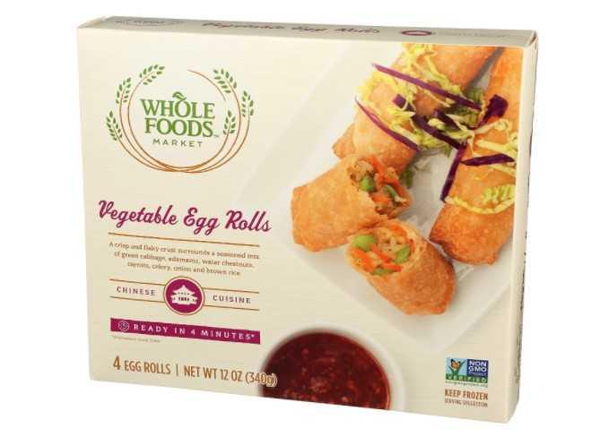 Whole Foods Market, Frozen Vegetable Egg Rolls, 4 ct