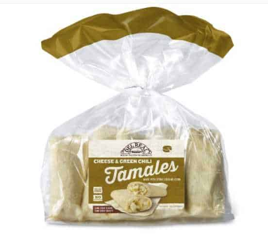 Del Real Foods Cheese & Green Chile Tamales, 4 Ounce (Pack of 6)