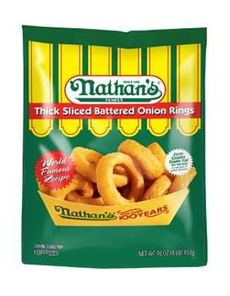 Nathan's Famous Thick Sliced Battered Frozen Onion Rings, 16 oz