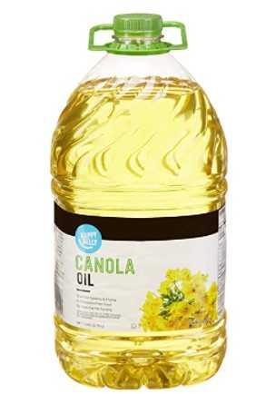 Amazon Brand - Happy Belly Canola Oil, 1 Gallon (128 Fl Oz)