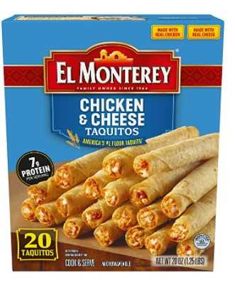 El Monterey Chicken and Cheese Flour Taquitos