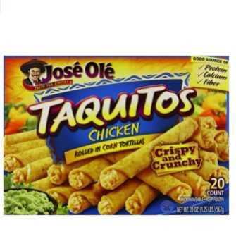 Jose ole frozen chicken taquito